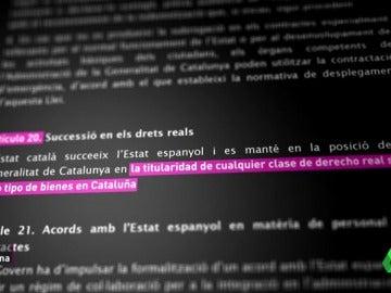 laSexta Columna analiza el artículo 20 de la Ley de transitoriedad: ¿con qué se quedaría Cataluña si se 'divorciara' de España?