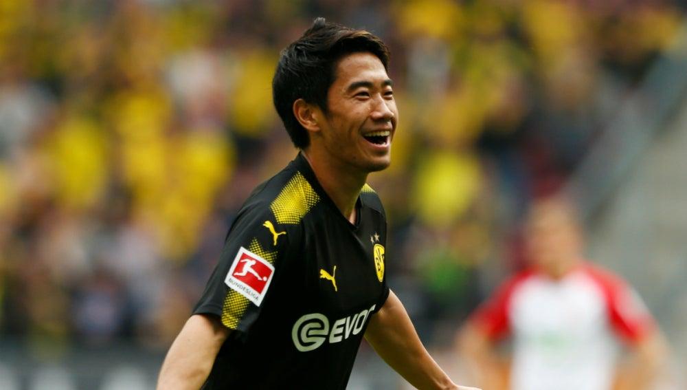 Kagawa celebra un gol con el Borussia Dortmund