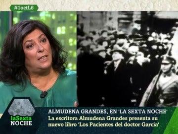 La escritora Almudena Grandes en laSexta Noche