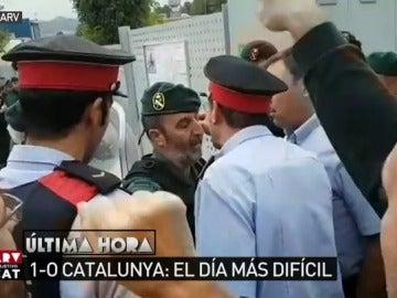 Enfrentamiento entre un guardia civil y un mosso