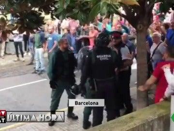 Discusión entre un Guardia Civil y un mosso d'esquadra en Barcelona