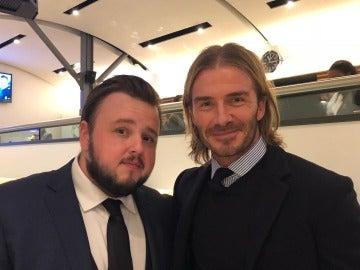 David Beckham y John Bradley