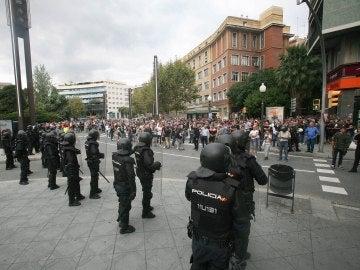 Policía durante el referéndum del 1-O