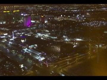 Vista panorámica del concierto de Las Vegas donde tuvo lugar el tiroteo