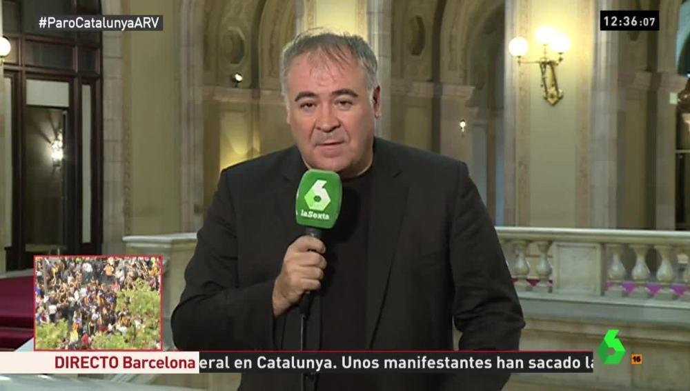 Antonio García Ferreras en el Parlament
