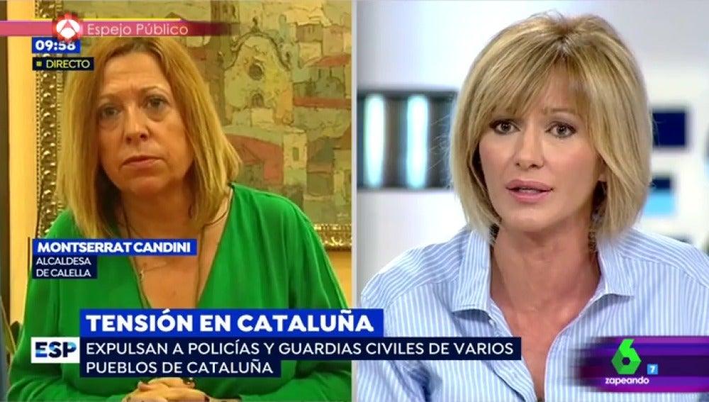 La alcaldesa de Calella y Susanna Griso
