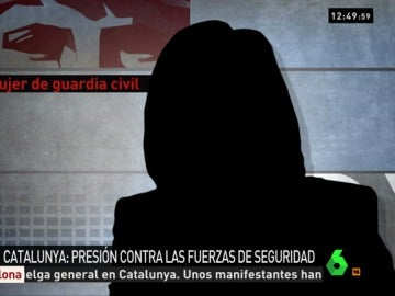 La mujer de un guardia civil en Barcelona