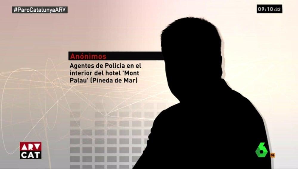 Los agentes de Policía alojados en Pineda de Mar