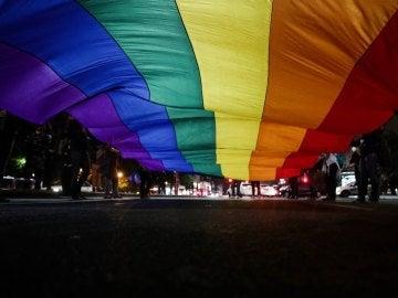Manifestación en apoyo al colectivo LGTBI