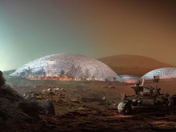 Vista exterior de la Mars Science City