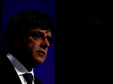 Carles Puigdemont, durante una comparecencia