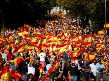 Manifestación a favor de la unidad de España en Madrid