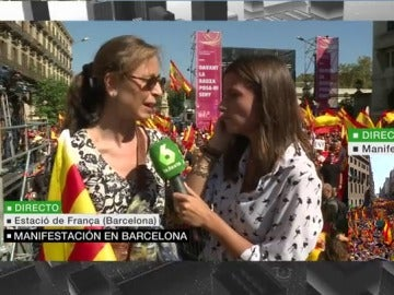 Mari Ángeles, manifestante