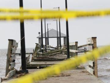 El paso de Nate por EE.UU. produce inundaciones y cortes de energía, Misisipi, EEUU