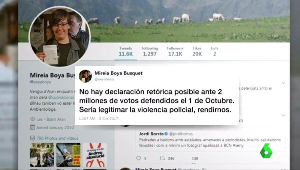 Twitter de Mireia Boya