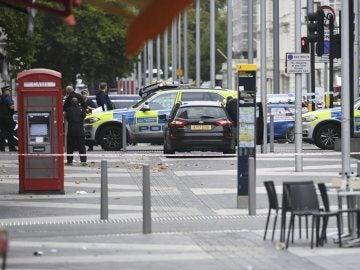 Inmediaciones del lugar del atropello múltiple de Londres