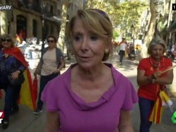 Esperanza Aguirre en Barcelona