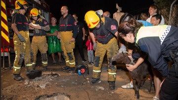 Rescate de una cabra en Alicante