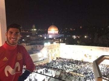 Marco Asensio en Jerusalén