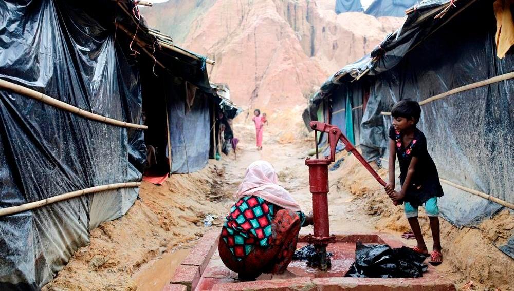 Niño rohinyá en un campo de Birmania