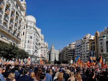 Procesión cívica del 9 de octubre en Valencia
