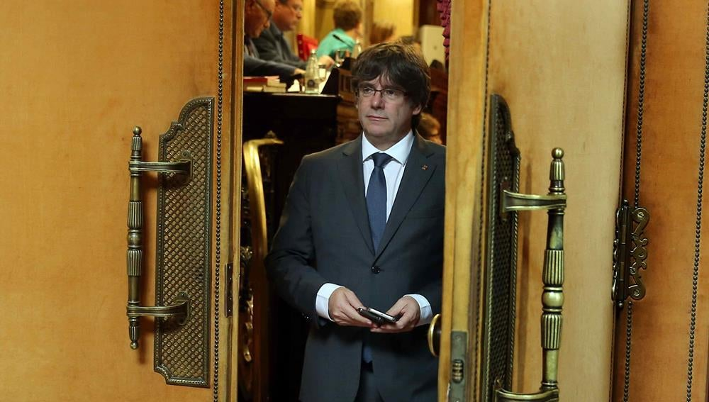 Carles Puigdemont en el Parlament (Archivo)