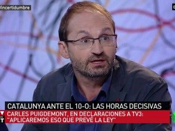 """Joan Herrera apuesta por el diálogo en Cataluña: """"Menos testosterona y más seguir el ejemplo de Carmena y Colau en El Intermedio"""""""