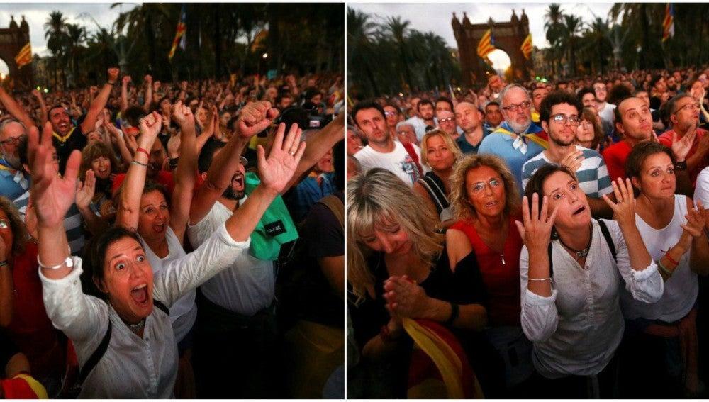 Manifestación por la independencia de Cataluña en Barcelona