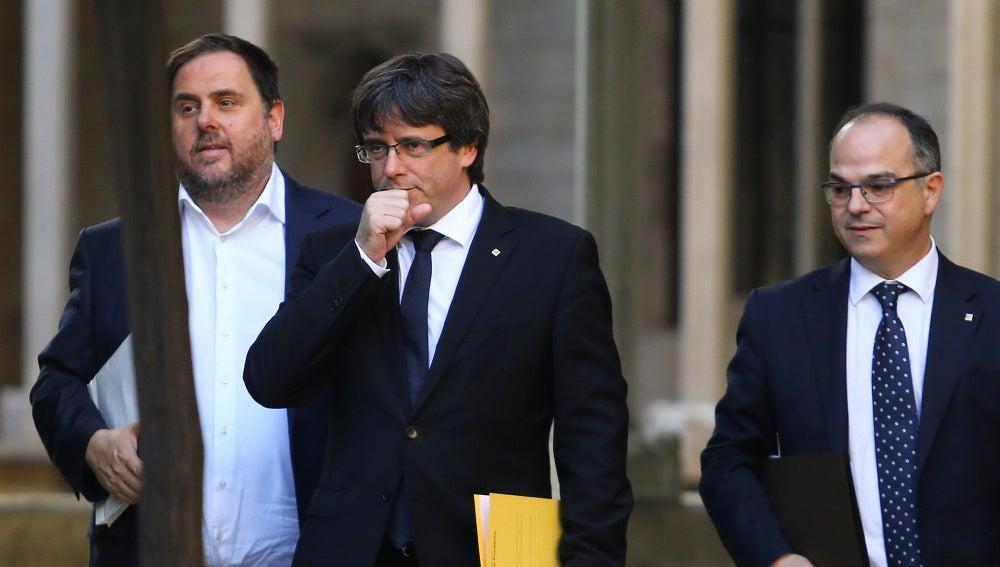 Puigdemont, Junqueras y Turull