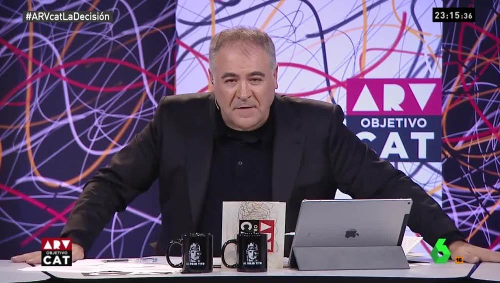 Antonio García Ferreras en la mesa de ARV Objetivo CAT