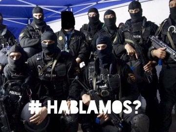 Foto del sindicato policial dirigida a Puigdemont