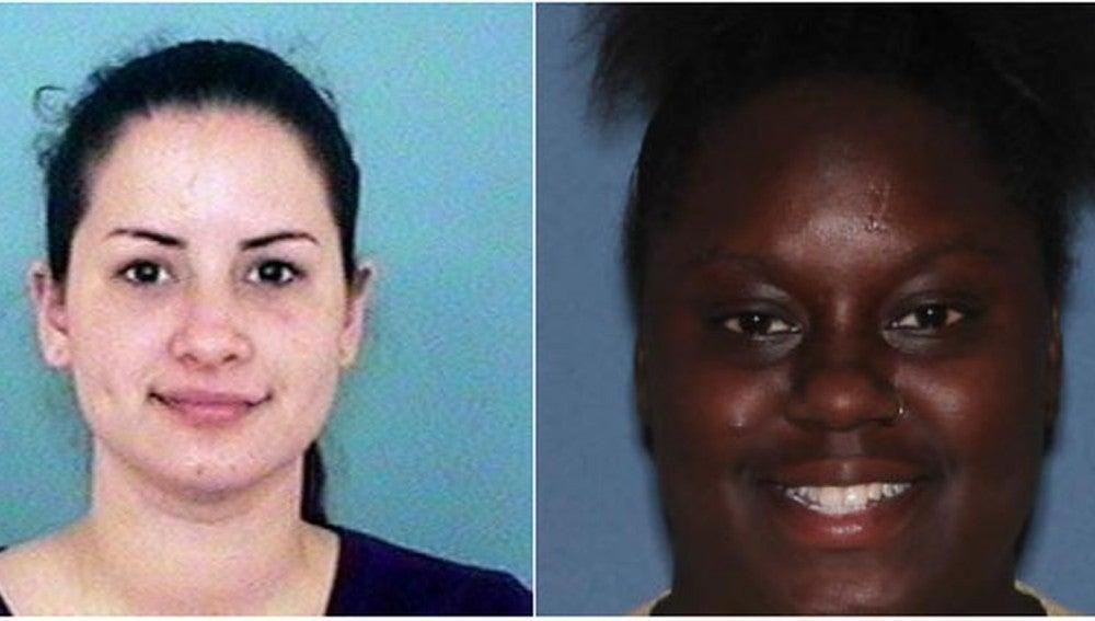 Gabriella Del Carmen Garcia e Fatina Saywer, las dos mujeres detenidas