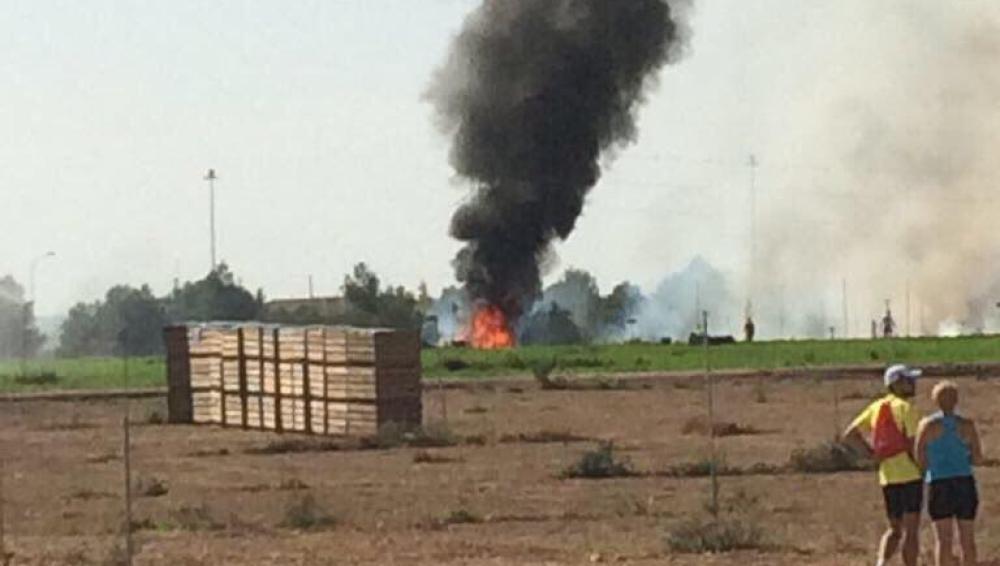 Se estrella un eurofighter en Albacete
