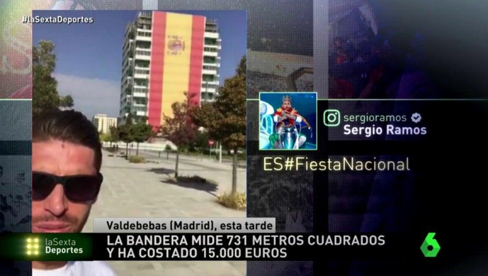 """Sergio Ramos presume de ser español: """"Orgulloso de nuestra bandera"""""""