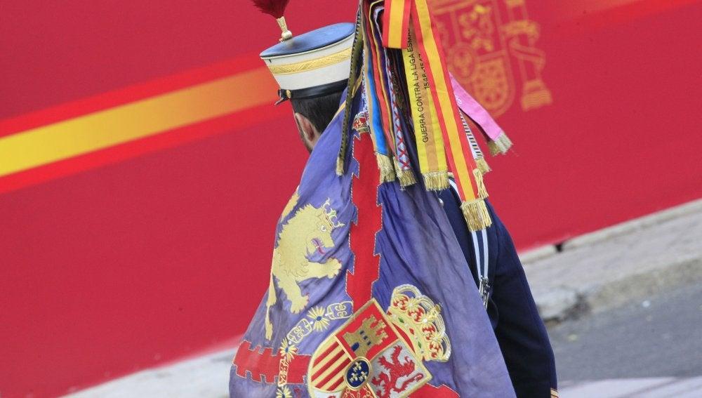 Un miembro de la Guardia Real en el Día de la Fiesta Nacional