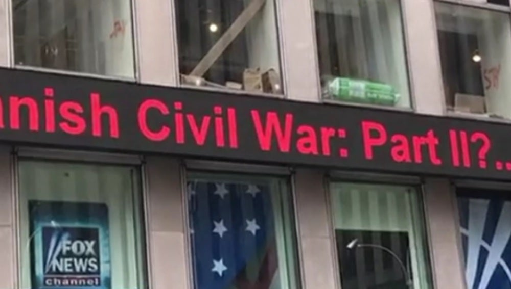 Panel de Fox News informando sobre la crisis catalana