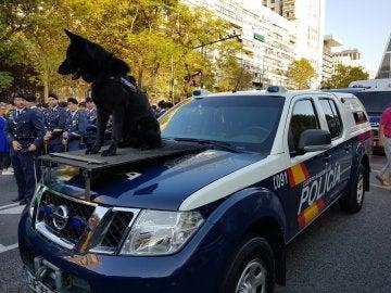 Resultado de imagen de desfile hispanidad 2017 policia nacional