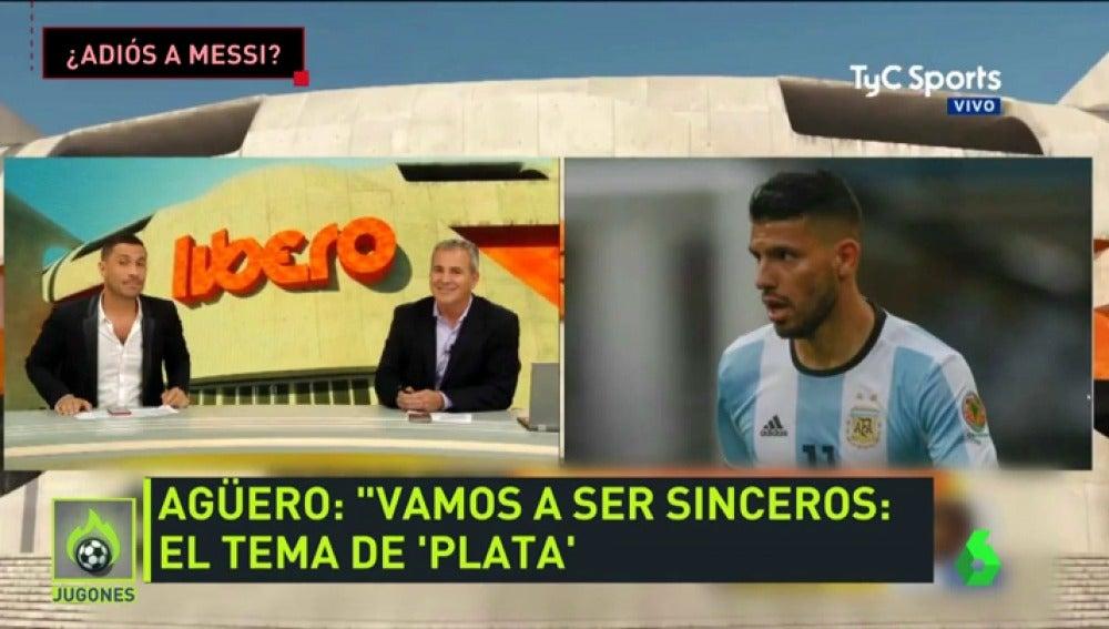 Agüero confirma que el City está al 'acecho' de Messi