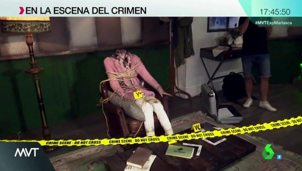 Recreación de la escena de un crimen