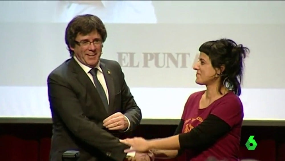 Carles Puigdemont y Anna Gabriel