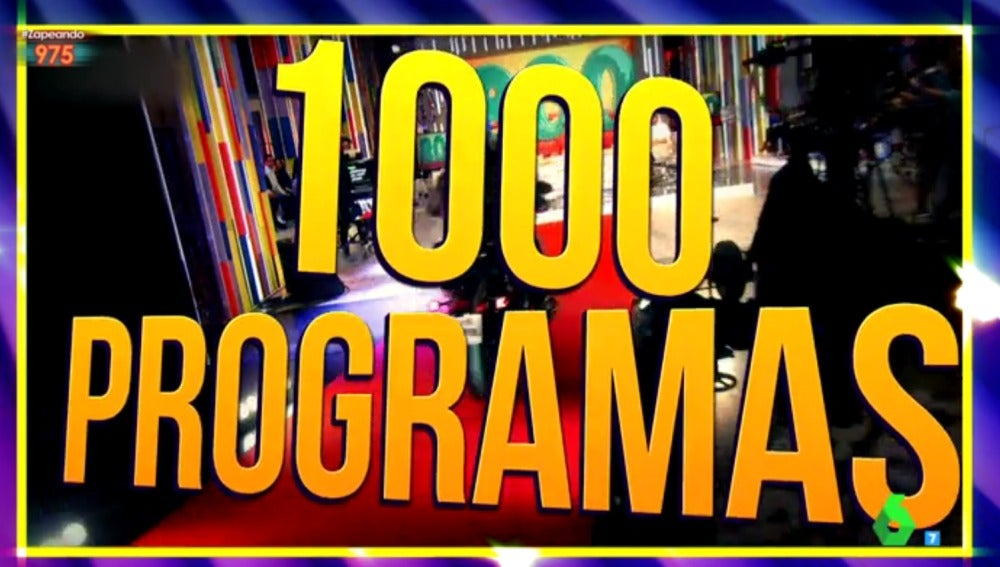Zapeando 1.000 programas