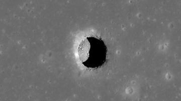 Agujero descubierto en la Luna