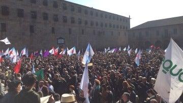 Manifestación contra los incendios en Santiago
