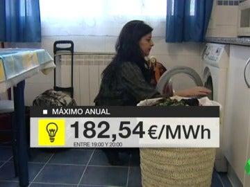 El precio de la electricidad alcanza su máximo del año: 182 euros megavatio/hora