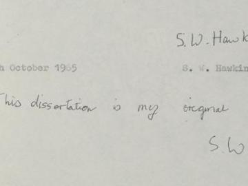 Stephen Hawking autoriza acceso libre a su tesis doctoral, de 1966