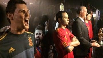 Futbolistas en el Museo de Cera