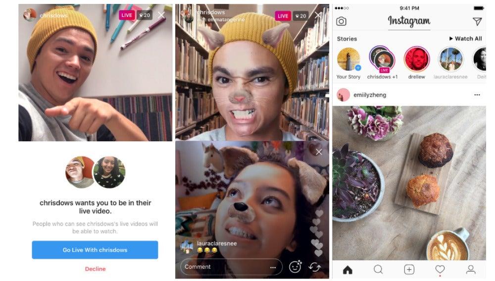 Instagram con varios amigos