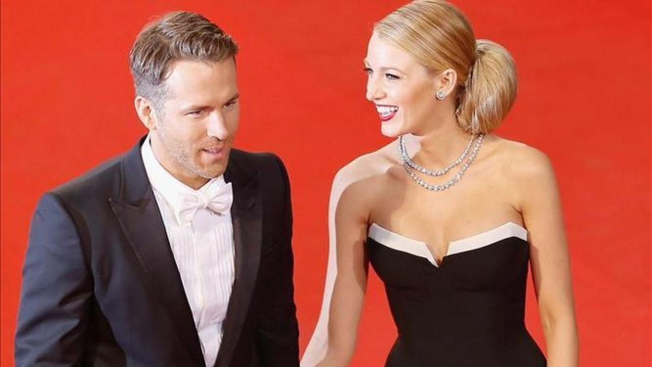 El actor Ryan Reynolds y su esposa, Blake Lively
