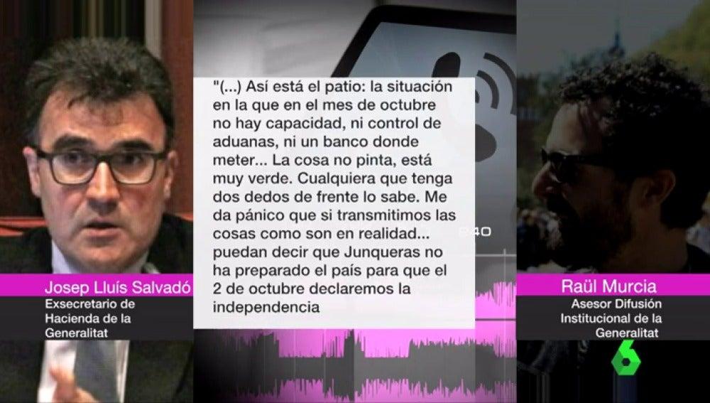 """Un alto cargo de Junqueras, antes del 1-O: """"Cualquiera con dos dedos de cerebro sabe que no se puede proclamar la independencia"""""""