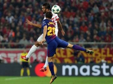 Sergi Roberto, en acción ante Olympiacos